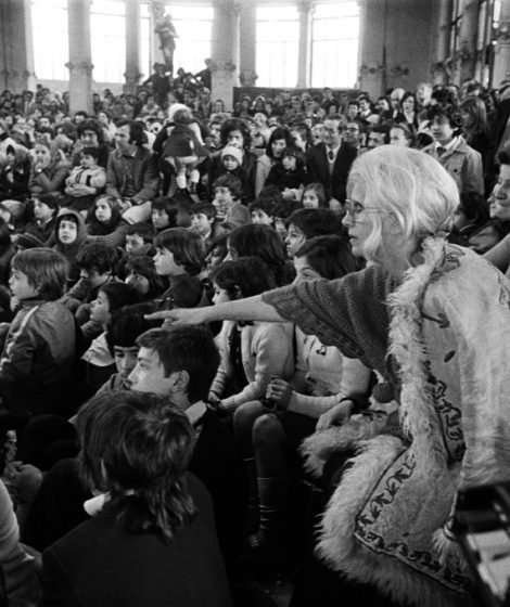 Franca alla Palazzina foto di Letizia Battaglia - da Archivio Rame Fo